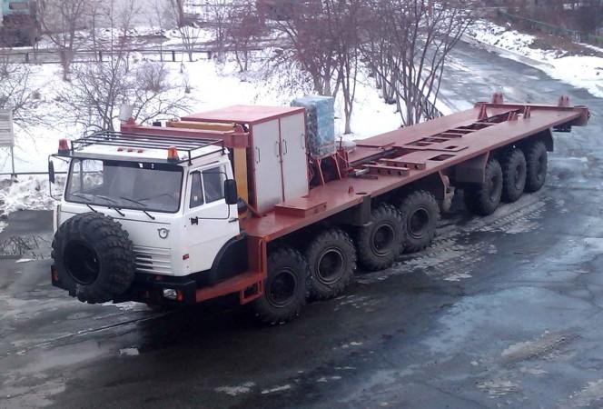 Самоходная платформа для бурового оборудования с усилием на крюке 160 тонн